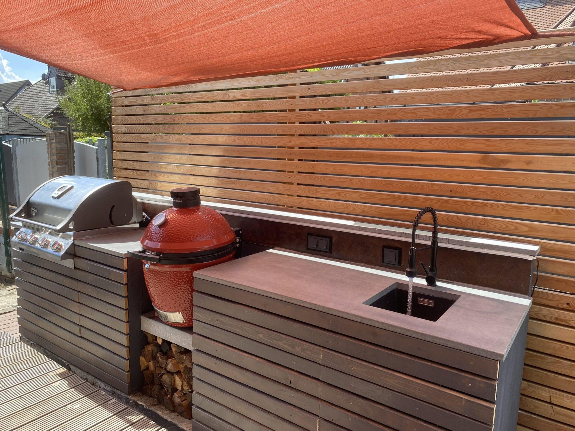 Betonarbeitsplatte Outdoorküche